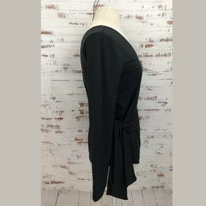 Fabletics Tops - Fabletics Heather Top Wrap Style Black Long Sleeve